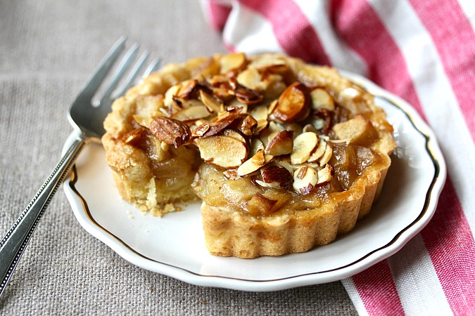 Apple Tartlet with a small slice removed
