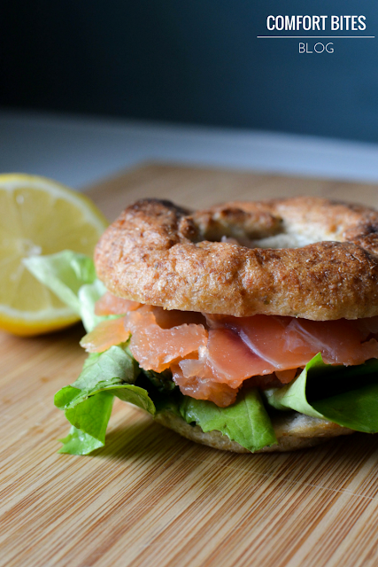 Paleo Legit Bagels with smoked salmon - Paleo bagels in the UK