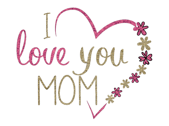 i love you mom mother's day greeting card