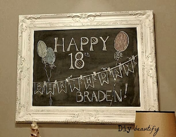 Birthday Chalkboard Art www.diybeautify.com