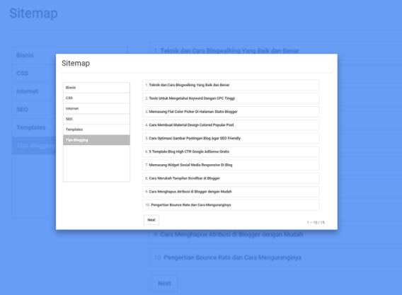 Membuat Sitemap Berdasarkan Label di Blog