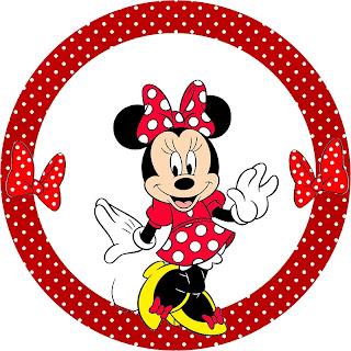 Minnie Vermelha Kit Completo De Molduras Para Convites Rotulos