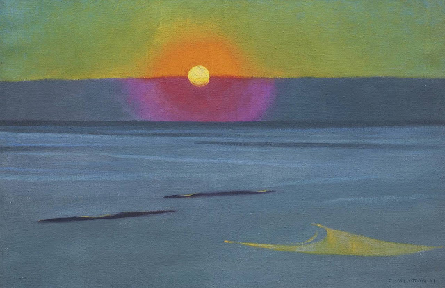 a Felix Vallotton painting of sunset