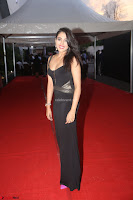 Madhu Shalini in a Glamorous Deep neck Black Sleeveless Dress at Mirchi Music Awards South 2017 ~  Exclusive Celebrities Galleries 034.JPG