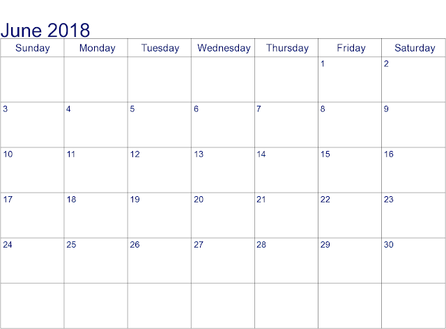 June 2018 Holiday Calendar Australia