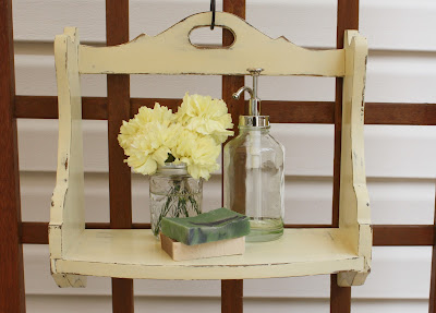 Farmhouse shelf painted Cream ASCP.