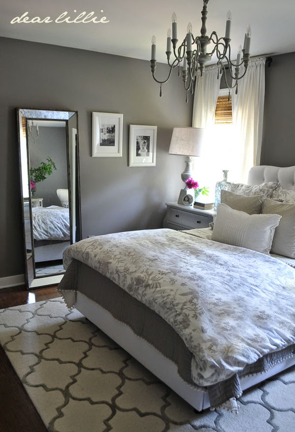 Some Finishing Touches To Our Gray Guest Bedroom Dear