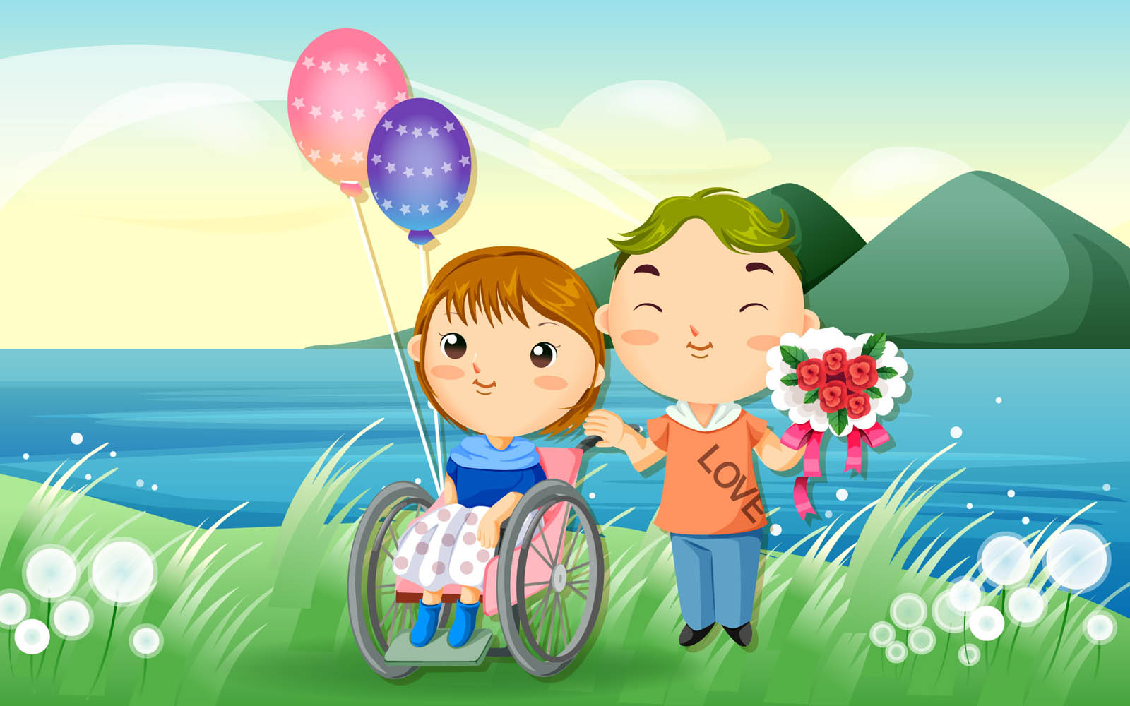 cartoon Wallpaper Of Love couple : wallpapers: cartoon Love Wallpapers