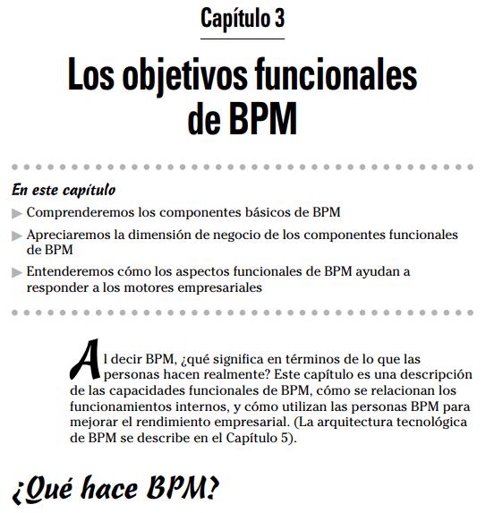 Los objetivos funcionales de BPM