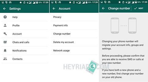ubah nomor hp di WA Whatsapp