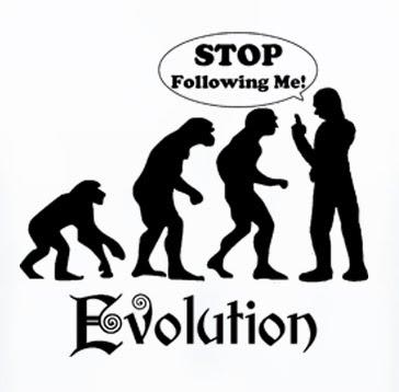 evolução humana engraçada