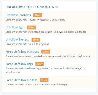 Tweepi Unfollows