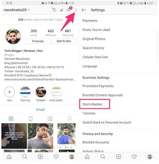 Cara Menggunakan Balasan Cepat Di Instagram Direct
