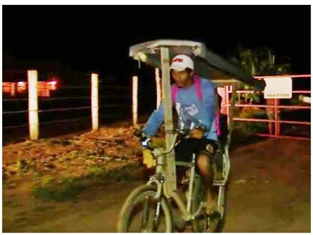 Resultado de imagem para Pai adapta bicicleta e pedala quase 40 km por dia para levar filha na escola