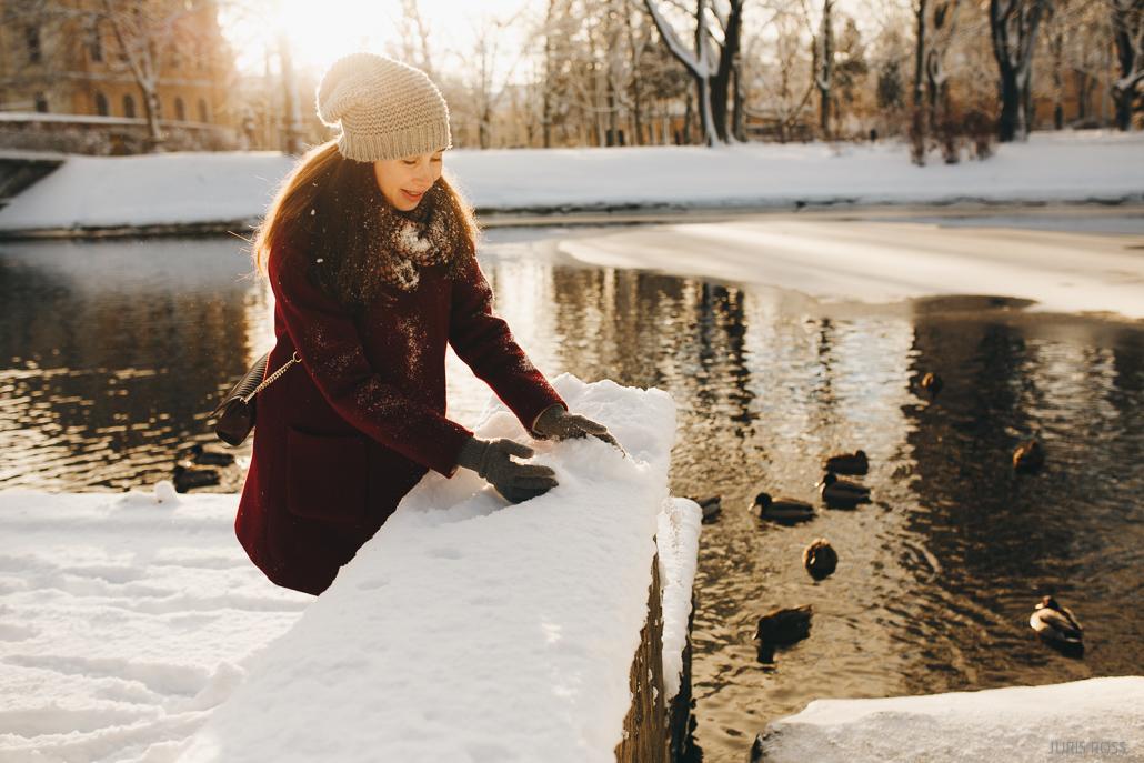 ģimenes fotosesija ziemā