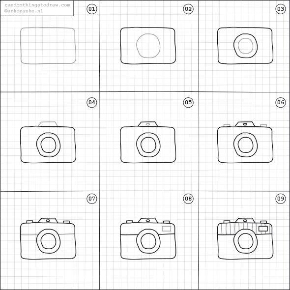 Learn to draw camera for kids