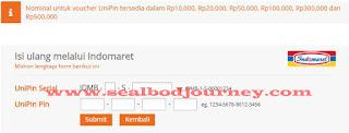 Menambah RPs menggunakan Unipin Seal BoD 4