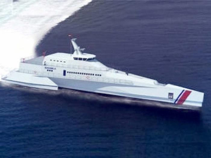 Desain Kapal Trimaran Bakamla