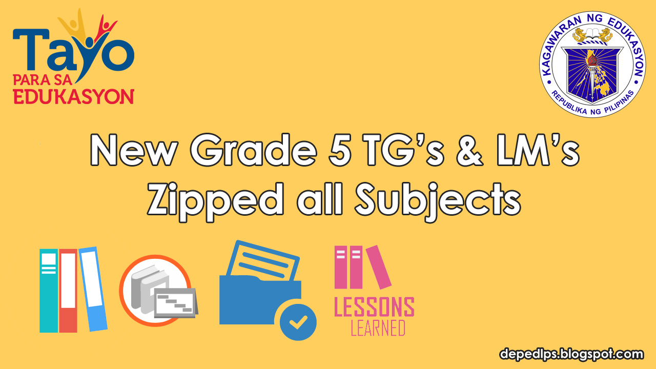 What are the subjects in grade 5 List 2018-2019 20