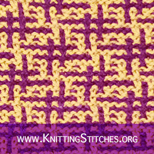 Hashtag Mosaic Knitting | Slip-stitch knitting | Slip-stitch Colorwork | Two color Knitting Pattern