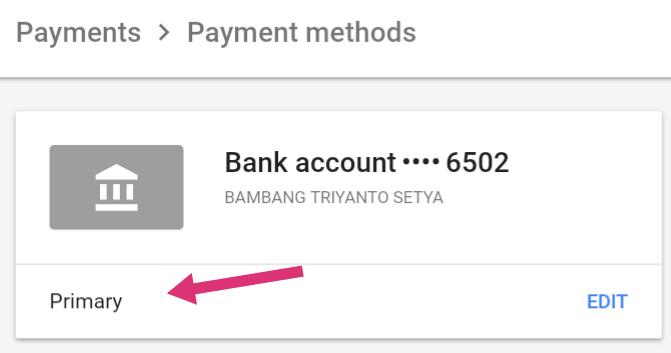 Memverifikasi Rekening Bank BRI Untuk Pembayaran Google Adsense