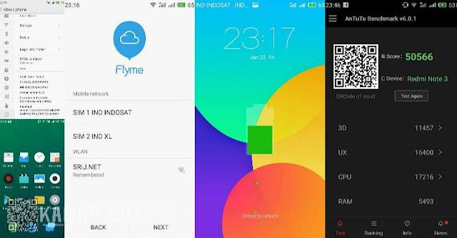 Kamu Bosen dengan Stcok Rom Redmi Note 3? Coba Ini Flyme OS v4.5.4.4 Base Android Lollipop