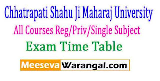 Chhatrapati Shahu Ji Maharaj University All Courses Reg/Priv/Single Subject 2017