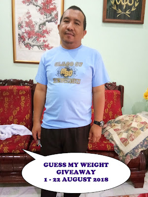 Guess My Weight Giveaway By Abam Kie, Giveaway, Peserta, Blog, Blogger, Hadiah,