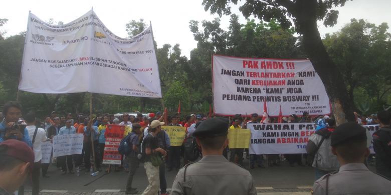 Jika Ahok Tidak Turun Tangan, Mantan Sopir Transjakarta Mengancam Ingin Demo di Depan Istana