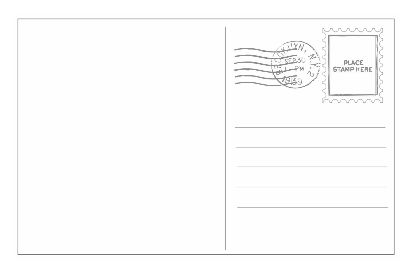 How to write a postcard address template