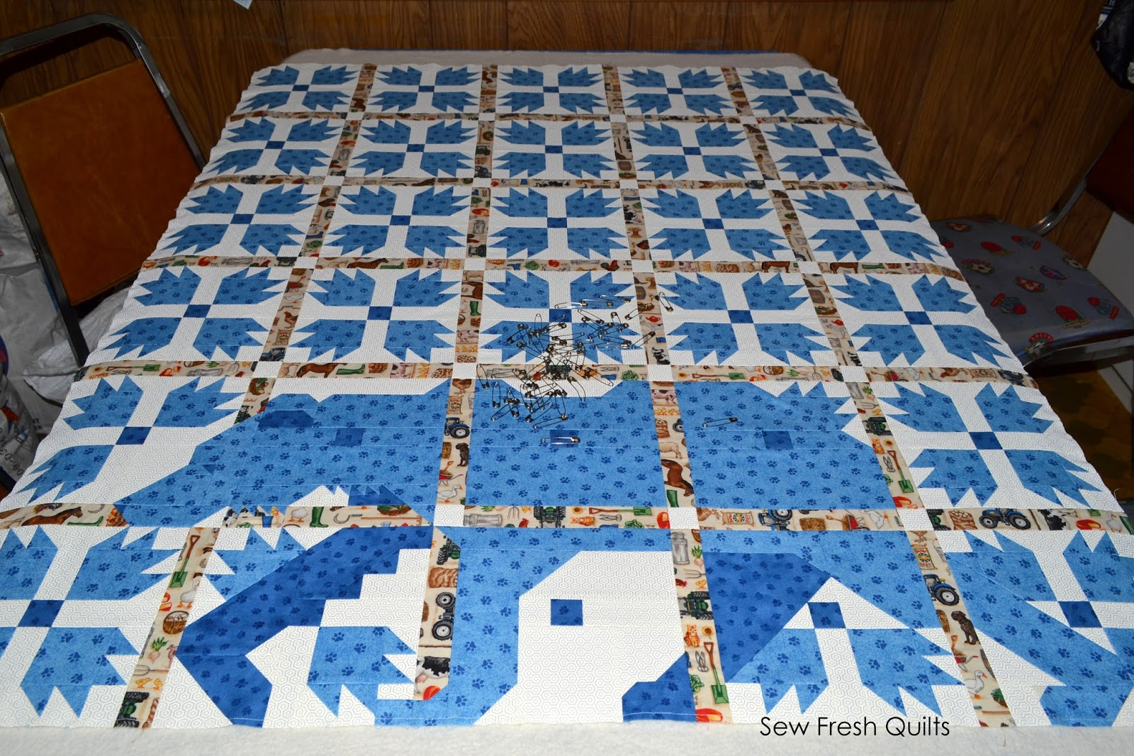 Sew Fresh Quilts Mod Bear Paw Qal Quilt Assembly
