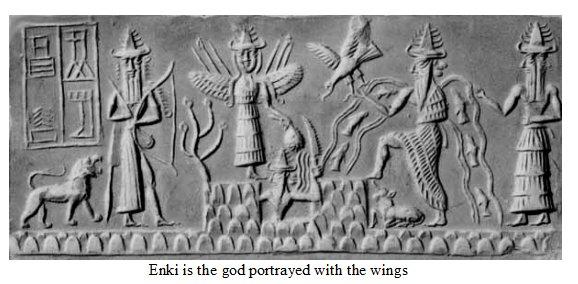stone tablet sumerian enki god