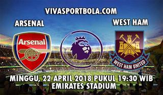 Prediksi Bola Arsenal vs West Ham United 22 April 2018