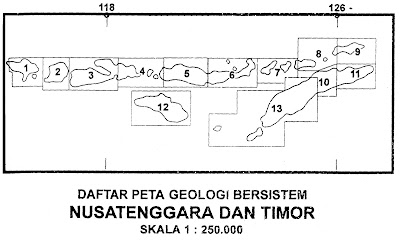 Indeks peta geologi lembar nusatenggara