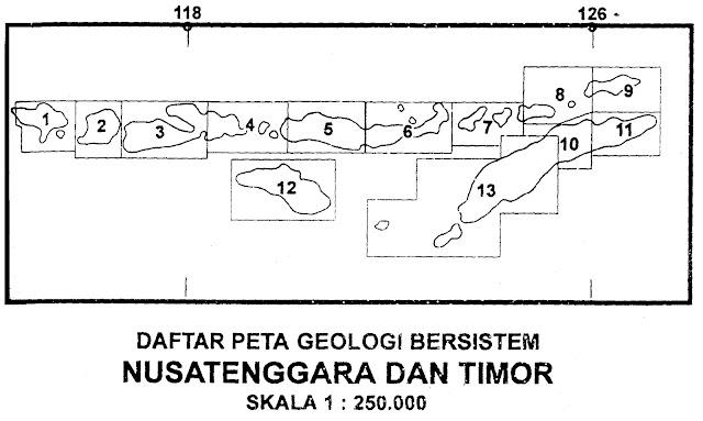 peta geologi lembar nusatenggara dan timor