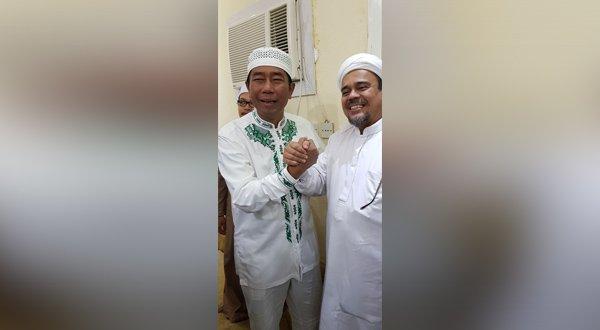 Ciee...!!! Di Sela-Sela Ibadah Umrah, Haji Lulung Silaturahmi dengan Habib Rizieq, Ini Yang dibicarakan