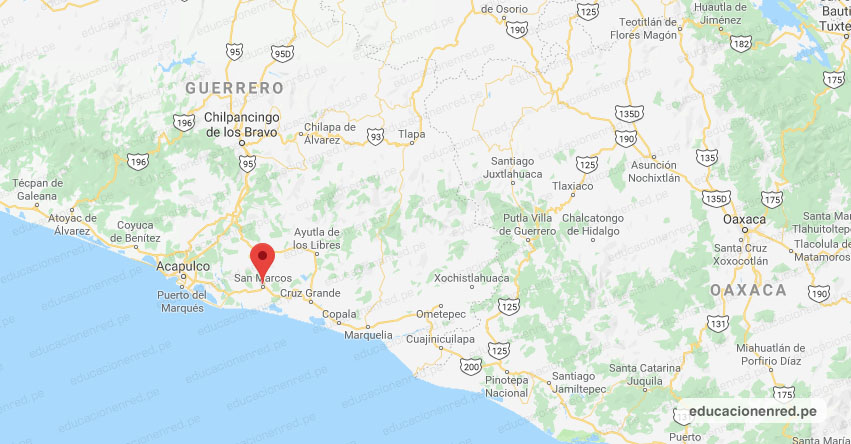 Temblor en México de Magnitud 5.0 (Hoy Sábado 05 Octubre 2019) Terremoto - Sismo - Epicentro - San Marcos - Guerrero - GRO. - SSN - www.ssn.unam.mx