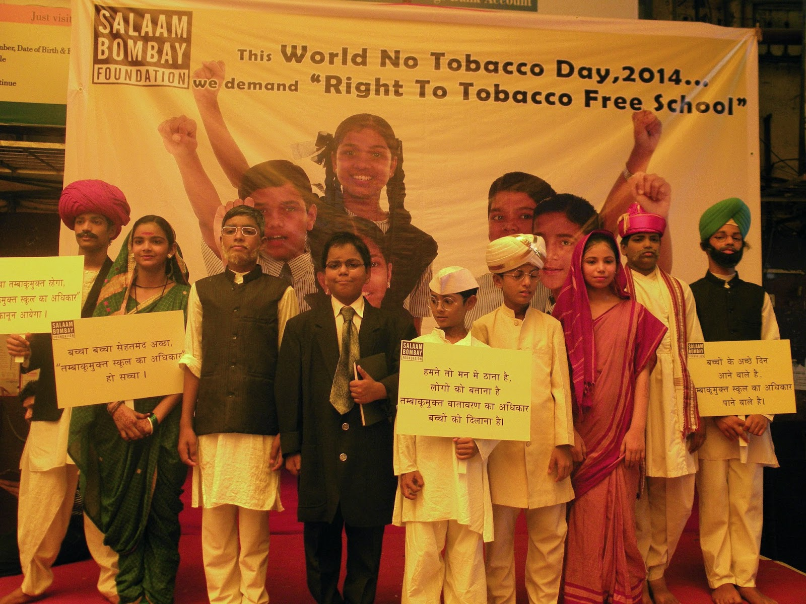 On the occasion of World No Tobacco Day, Children from Salaam Bombay