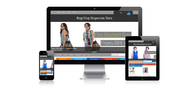 Blogger Blog Store E-Commerce Template Download