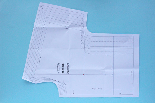 Fitting the Bettine dress sewing pattern