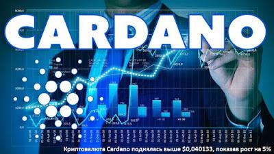 Криптовалюта Cardano поднялась выше $0,040133, показав рост на 5%