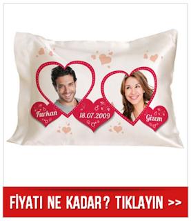 Sevgiliye Özel Fotoğraflı Romantik Yastık