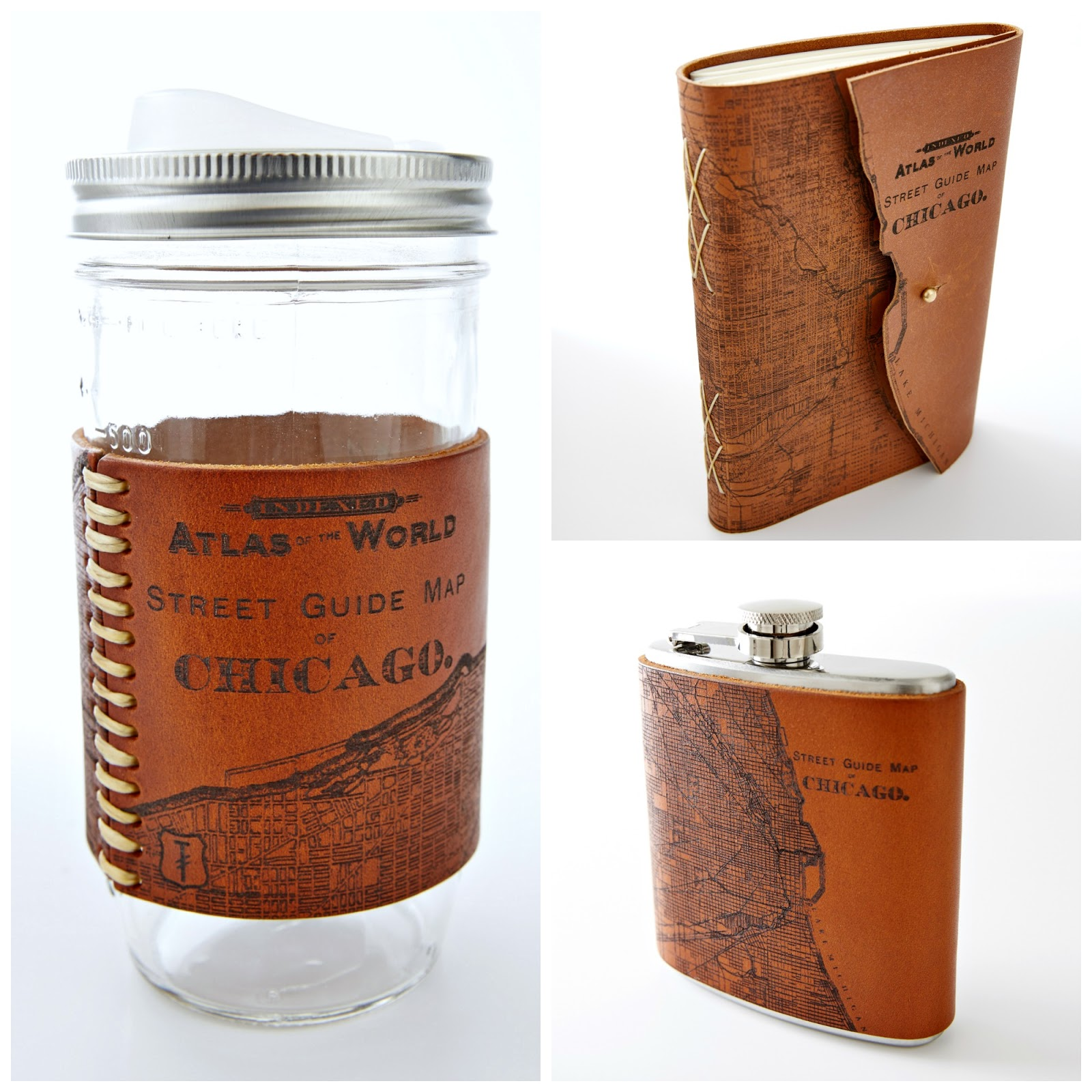 Artifacts how its made handcrafted leather chicago map mementos how its made handcrafted leather chicago map mementos chicago map travel mug gumiabroncs Choice Image