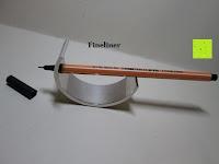 Fineliner: Kugelschreiber Bow Aluminium silber Ständer
