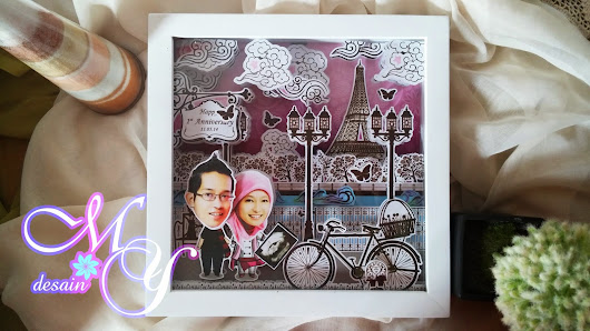 Template Paris Classic - Gift or Wedding Scrapframe