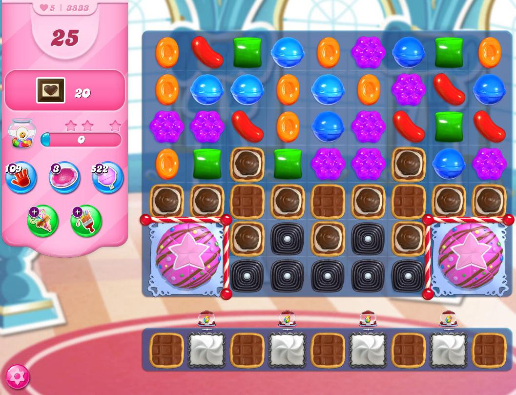 Candy Crush Saga level 3833