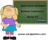 Soal Ujian Sekolah (US) Bahasa Indonesia Kelas 6 SD/MI Tahun Ajaran 2017/2018