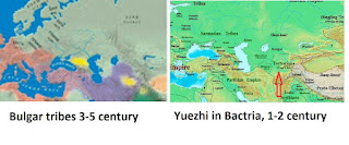 Yuezhi and Bulgars were the same peple; Bulgarians