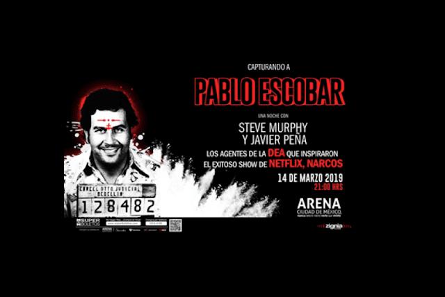 Boletos para Javier Peña y Steve Murphy Capturando a Pablo Escobar en Arena Ciudad de Mexico 2019