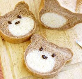 pane bicolore con orsetto